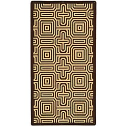Safavieh Indoor/ Outdoor Matrix Chocolate/ Natural Rug (6'7 x 9'6)