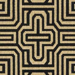 Safavieh Matrix Sand/ Black Indoor/ Outdoor Rug (2'7 x 5') - Thumbnail 2