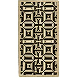 Safavieh Matrix Sand/ Black Indoor/ Outdoor Rug (4' x 5'7)