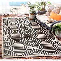 Safavieh Matrix Sand/ Black Indoor/ Outdoor Rug - 8' x 11'