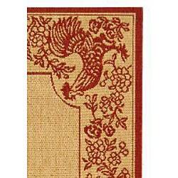 Safavieh Rooster Natural/ Red Indoor/ Outdoor Rug (2'7 x 5')