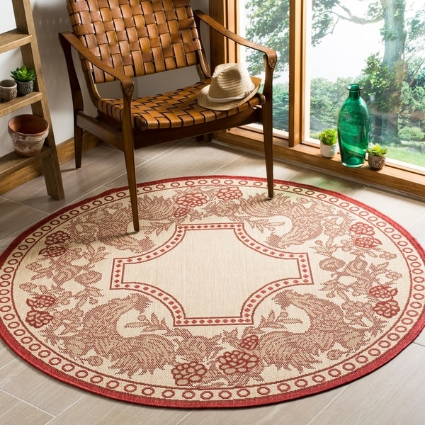 Area Rugs Home Goods: Shop Safavieh Rooster Natural/ Red Indoor/ Outdoor Rug