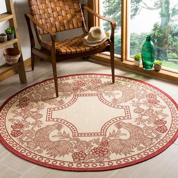 Shop Safavieh Rooster Natural Red Indoor Outdoor Rug 5