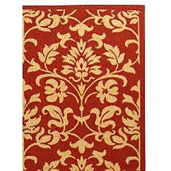 Safavieh Seaview Red/ Natural Indoor/ Outdoor Rug (6'7 x 9'6) - Thumbnail 1