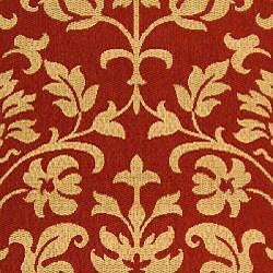 Safavieh Seaview Red/ Natural Indoor/ Outdoor Rug (6'7 x 9'6) - Thumbnail 2