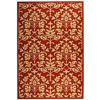 Safavieh Seaview Red/ Natural Indoor/ Outdoor Rug - 6'7 x 9'6