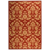 "Safavieh Seaview Red/ Natural Indoor/ Outdoor Rug - 6'-7"" x 9'-6"""