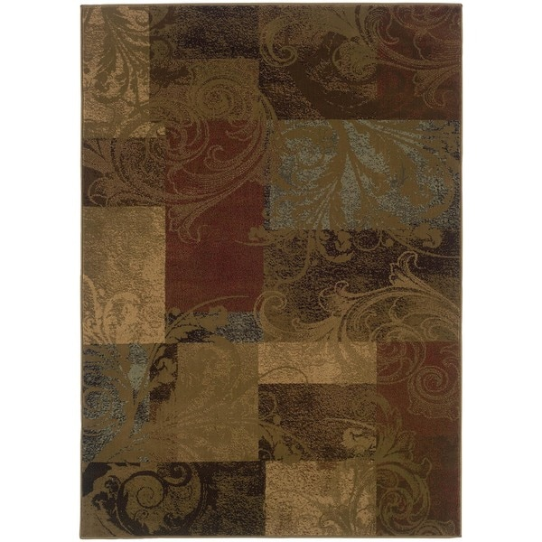 "Brown/ Red Rug (5'3 x 7'6) - 5'3"" x 7'6"""