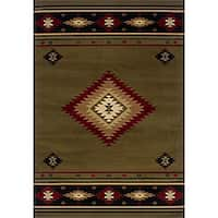 Pine Canopy Allegheny Machine-woven Southwestern Area Rug - 5'3' x 7'6'