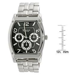 Geneva Platinum Men's Chronograph Link Watch