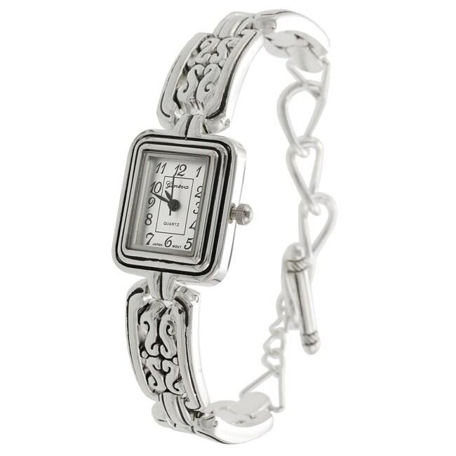 Geneva Women's Concho-style Toggle Watch