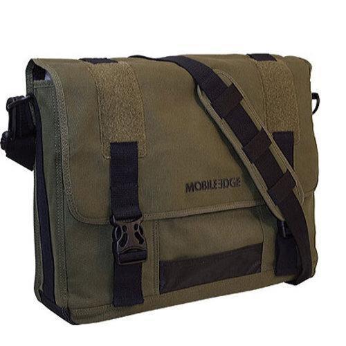 Mobile Edge - Eco-Friendly Cotton Canvas 15.6 to 17.3 Messenger Bag - Olive����