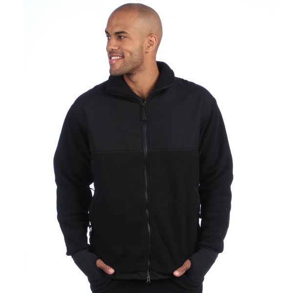 Men's Full-zip Fleece Jacket - Free Shipping Today - Overstock.com ...