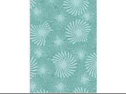 Alliyah Handmade Aqua Bursts New Zealand Blend Wool Rug (5' x 8')