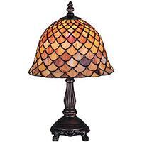 Tiffany-style Fishscale 13.5-inch Mini Lamp