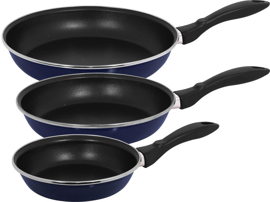Magefesa Provence Blue Gloss 3 Piece Frying Pan Set Free