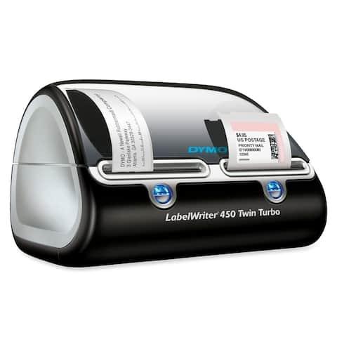Dymo LabelWriter Direct Thermal Printer - Monochrome - Platinum - Label Print