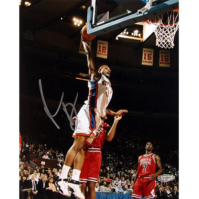 New York Knicks Renaldo Balkman Vertical 8x10 Autographed Photo