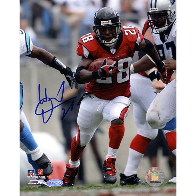 Warrick Dunn Run vs Panthers 8x10 Autographed Photo
