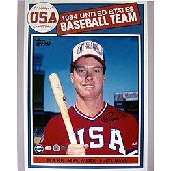 Topps Mark McGwire 1984 USA Baseball Autographed Card
