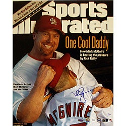 Mark McGwire with Son SI Cover 16x20 Autographed Photo