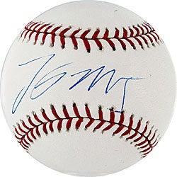 Lastings Milledge Autographed MLB Baseball - Thumbnail 0
