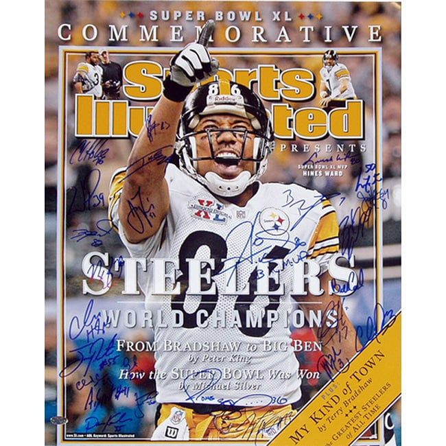 outlet store 2cbd1 6da1d Pittsburgh Steelers Team SB XL Commemorative Sports Illustrated Cover