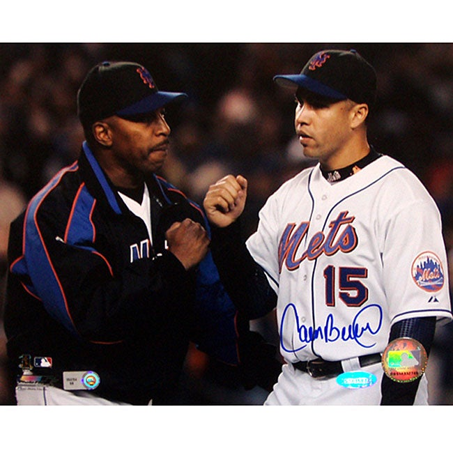 New York Mets Carlos Beltran/ Willie Randolph Autographed 8x10 Photo