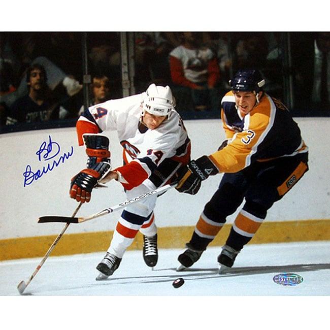 Bob Bourne Autographed Vs. Kings 8x10 Photograph