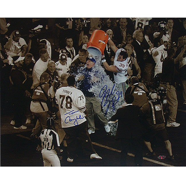 Madison Hedgecock/ Tom Coughlin Dual Signed 16x20 Photograph