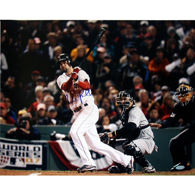 Boston Red Sox Mike Lowell '07 World Series Swing 16x20 Autographed Photo