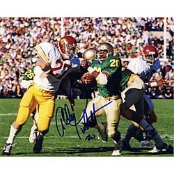 Allen Pinkett Autographed ND vs. USC 8x10 Photograph