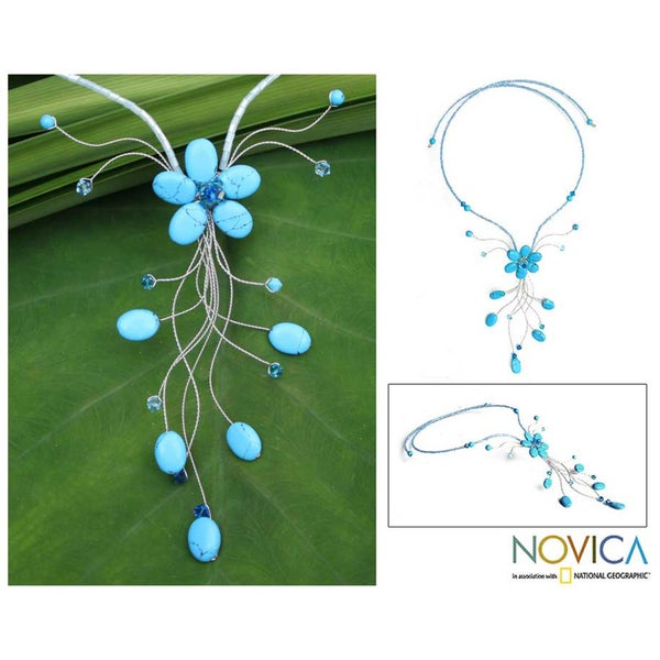 Beaded 'Azure Forest' Necklace (99mm)(Thailand)