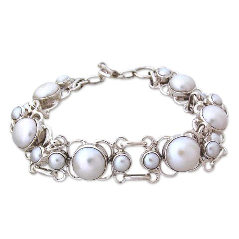 Handmade Clarity Pearl with Toggle Clasp (India)