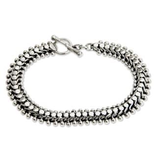Handmade Sterling Silver Bracelet (Indonesia)