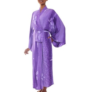 Womens Kissed by Violet Rayon Batik Robe (Indonesia)
