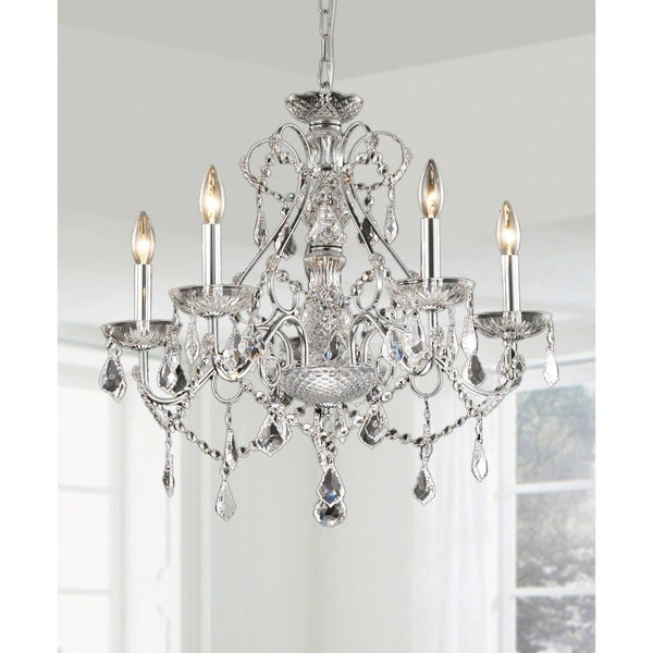 New Orleans 5-light Crystal Chandelier - Free Shipping Today ...