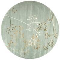Safavieh Handmade Soho Vine Light Blue New Zealand Wool Rug - 8' x 8' Round