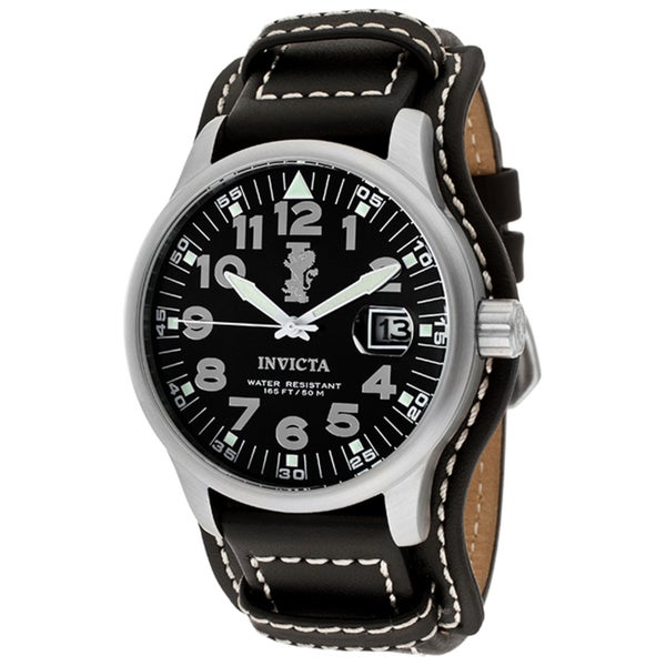 Invicta Force Men's Black Leather Watch
