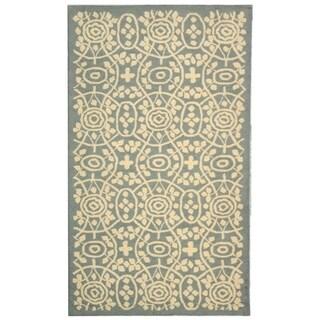 Martha Stewart by Safavieh Bloomery Aloe Cotton Rug (3'9 x 5'9)