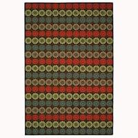 Martha Stewart by Safavieh Solar Garden Mulberry Wool Rug - 3'9 x 5'9