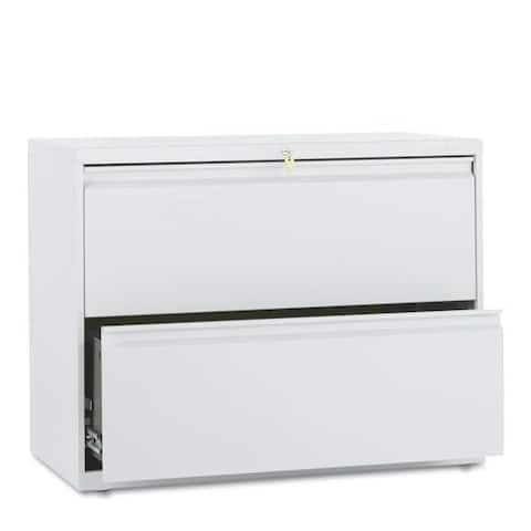 HON 800 Series Light Gray 36-Inch Wide 2-Drawer Lateral File Cabinet