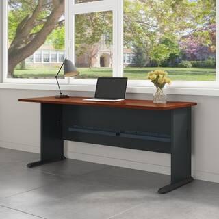 Bush Business Furniture Series A 72w Desk In Hansen Cherry And Galaxy