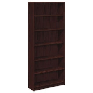 HON 1870 Series 6-shelf Mahogany Laminate Bookcase