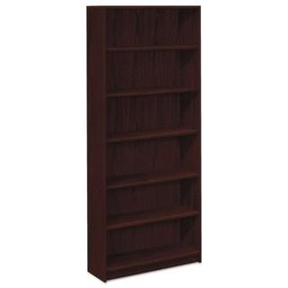 HON 1870 Series 6-shelf Mahogany Laminate Bookcase