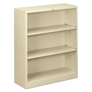 HON 3-shelf Adjustable Putty Metal Bookcase