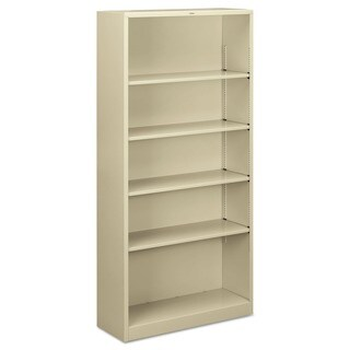 HON 5-shelf Metal Putty Bookcase