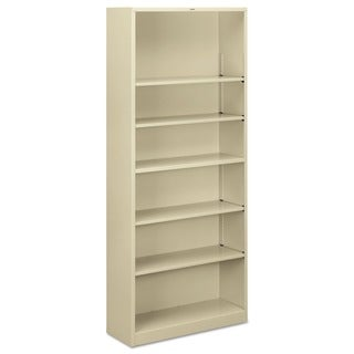 HON 6-shelf Metal Putty Bookcase