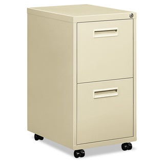 basyx by HON Embark Series 22-inch Deep Putty File/ File Pedestal File with Two 'M' Pull Drawers