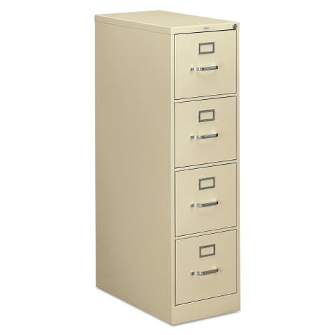 HON 310 Series Four-Drawer, Full-Suspension File, Letter, Putty